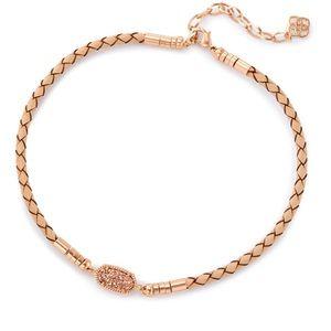 NWOT Kendra Scott Copper Rose Gold Drusy necklace